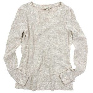 Loft Sweater Pullover Cotton High Low Long Sleeve